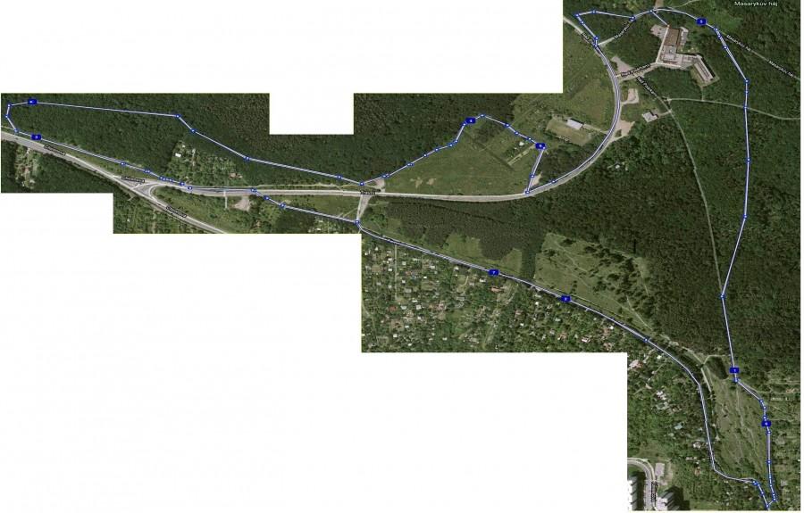 Myslivna 2011 - mapa